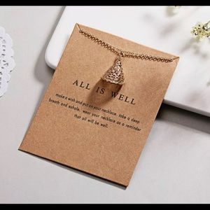 Jewelry - Make a Wish Necklace- All Is Well